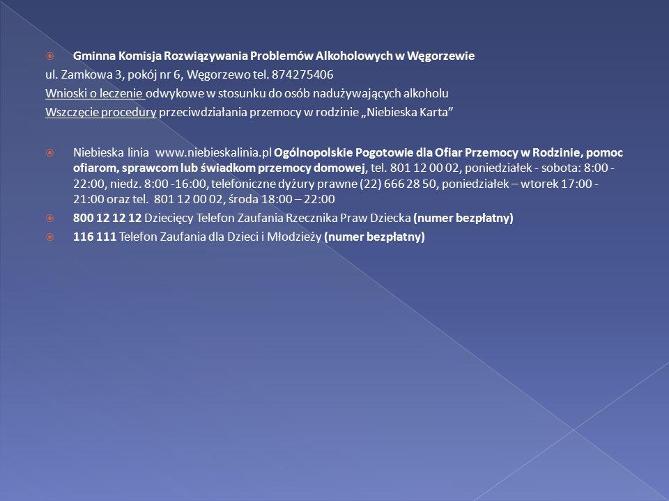 Gminna Komisja Rozwiązywania Problemów Alkoholowych w Węgorzewie