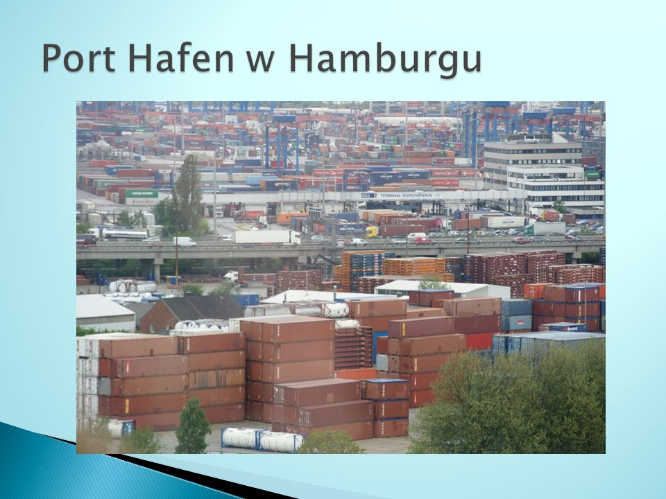 Port Hafen w Hamburgu