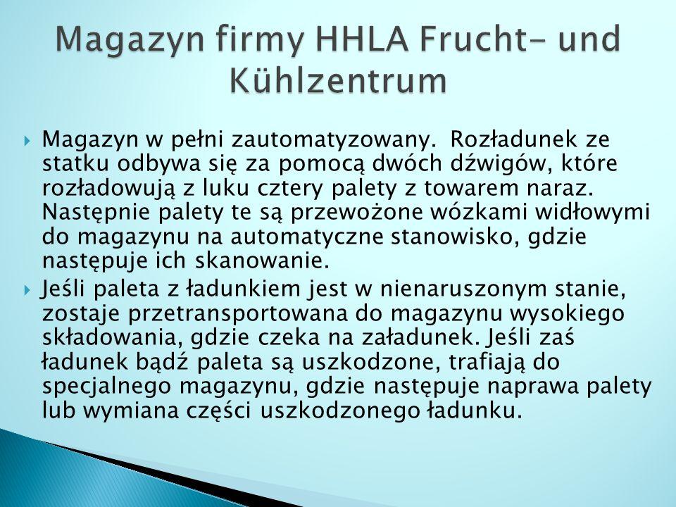 Magazyn firmy HHLA Frucht- und Kühlzentrum