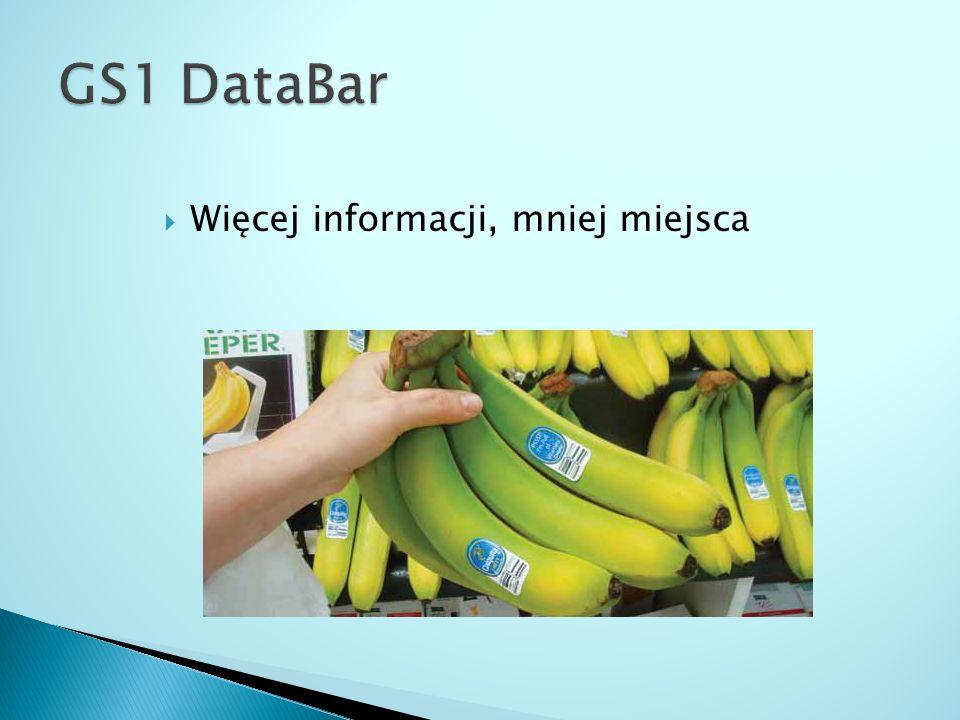 GS1 DataBar Więcej informacji, mniej miejsca