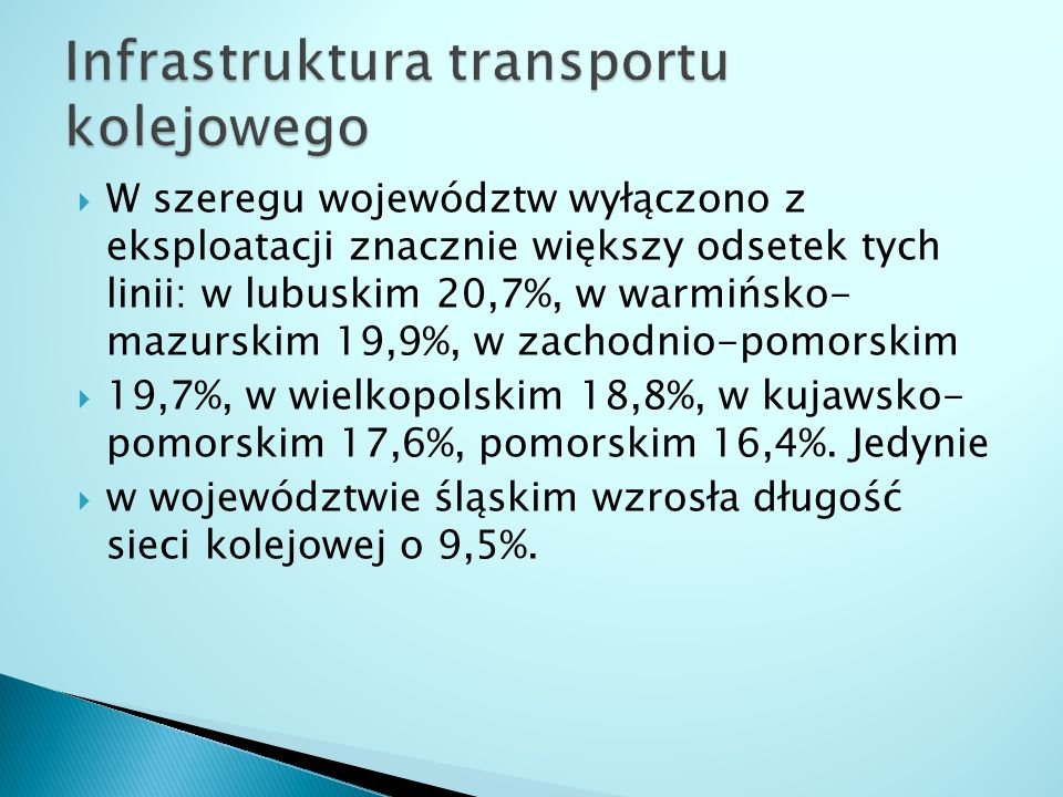 Infrastruktura transportu kolejowego
