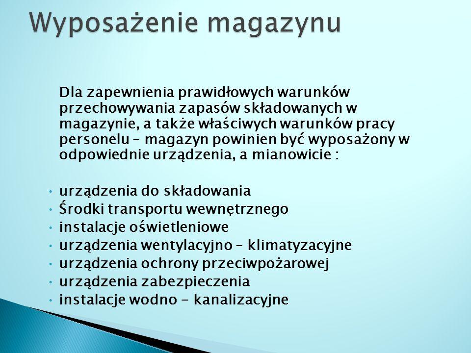 Wyposażenie magazynu