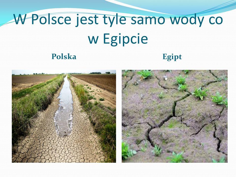 W Polsce jest tyle samo wody co w Egipcie