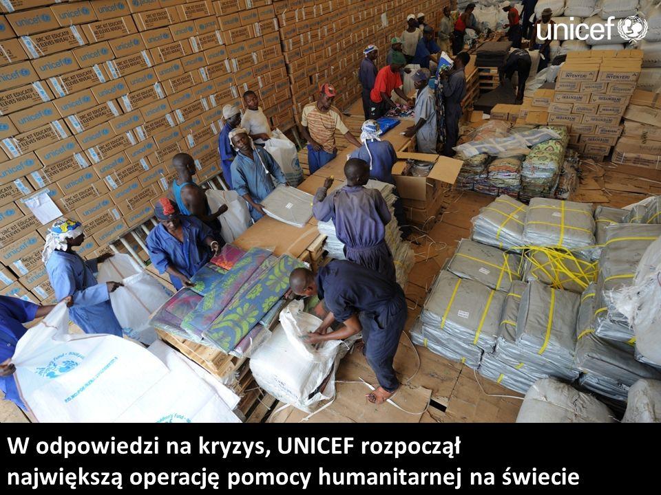 W odpowiedzi na kryzys, UNICEF rozpoczął