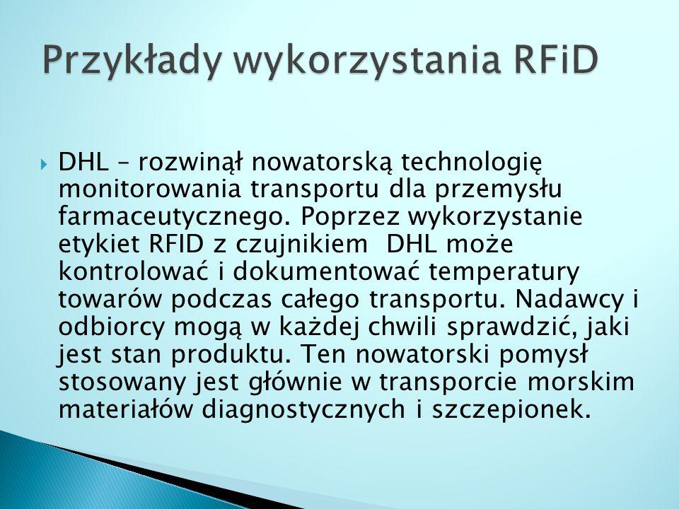 Przykłady wykorzystania RFiD