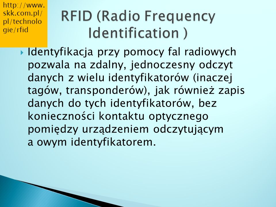 RFID (Radio Frequency Identification )