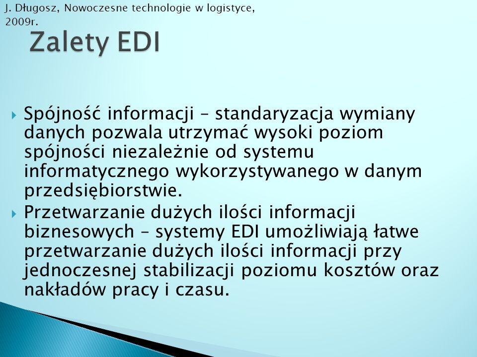 J. Długosz, Nowoczesne technologie w logistyce, 2009r.