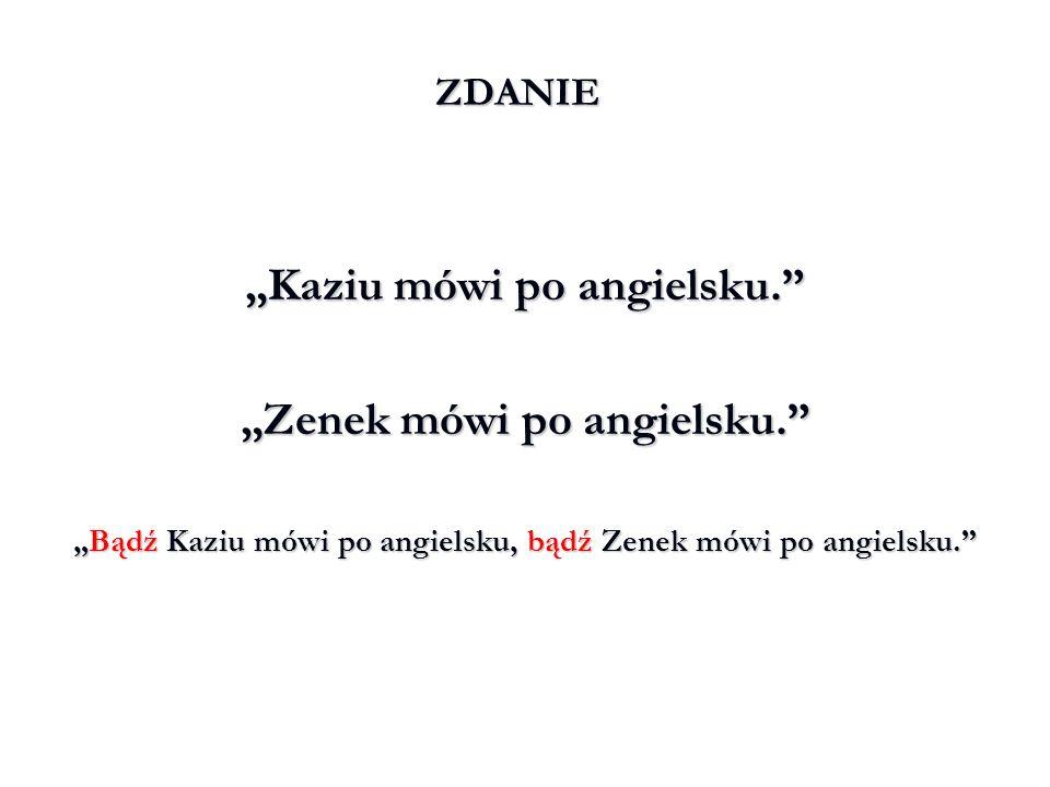 """Kaziu mówi po angielsku. ""Zenek mówi po angielsku."