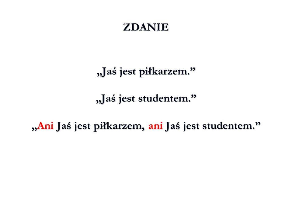 """""""Ani Jaś jest piłkarzem, ani Jaś jest studentem."""