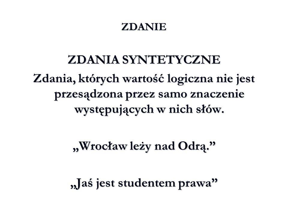 """""""Wrocław leży nad Odrą."""