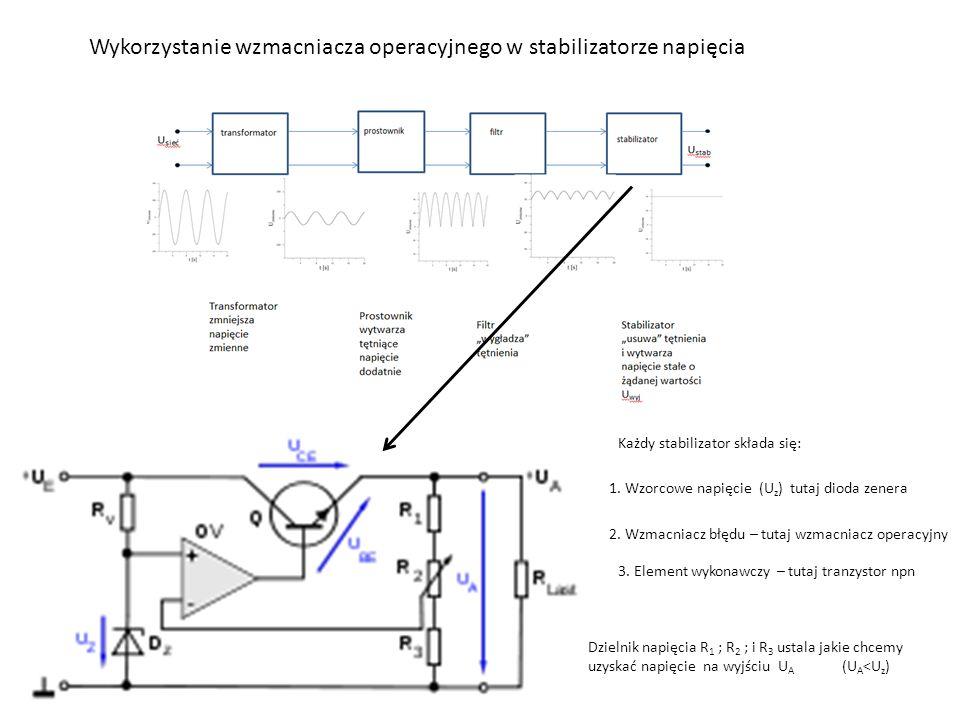Wykorzystanie wzmacniacza operacyjnego w stabilizatorze napięcia