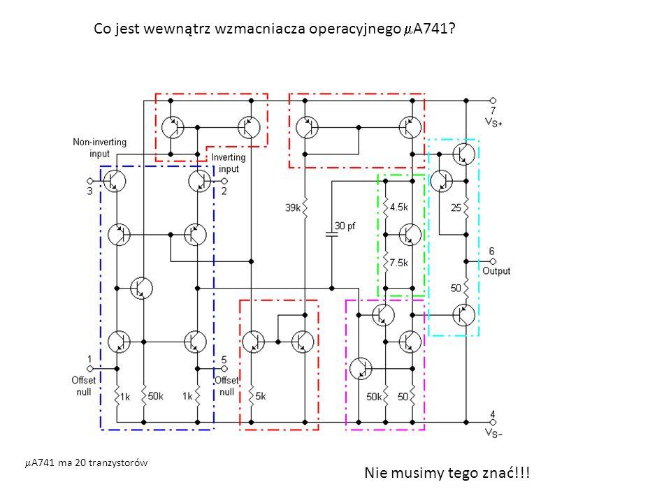 Co jest wewnątrz wzmacniacza operacyjnego A741