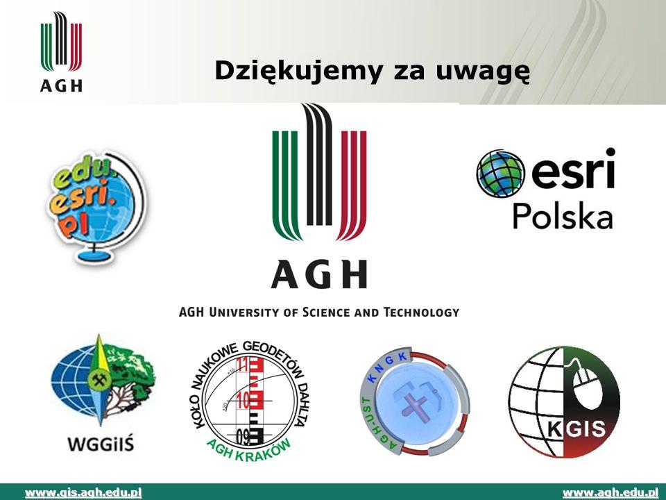 Dziękujemy za uwagę www.gis.agh.edu.pl www.agh.edu.pl
