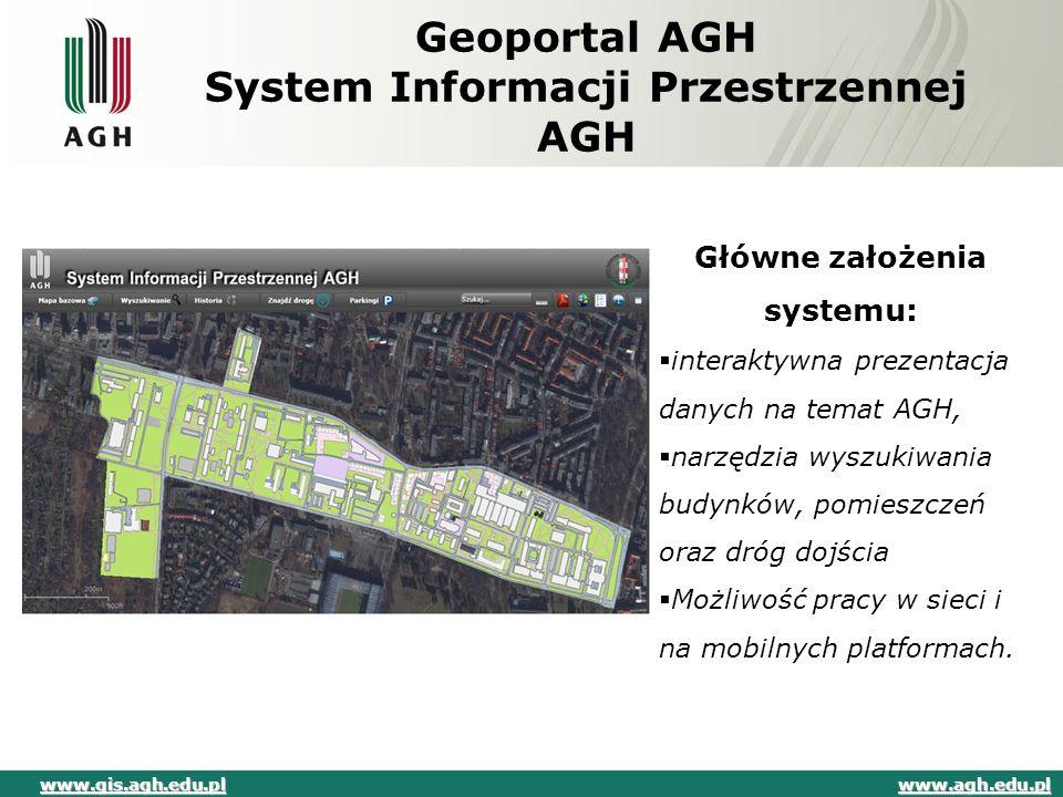 Geoportal AGH System Informacji Przestrzennej AGH
