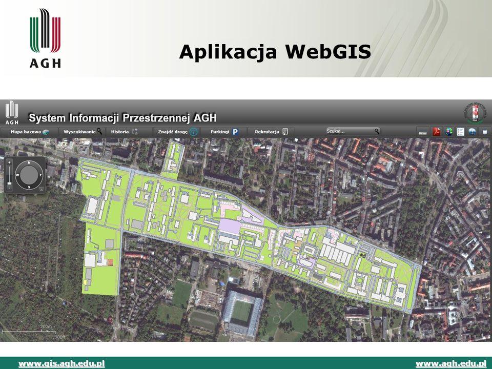 Aplikacja WebGIS www.gis.agh.edu.pl www.agh.edu.pl