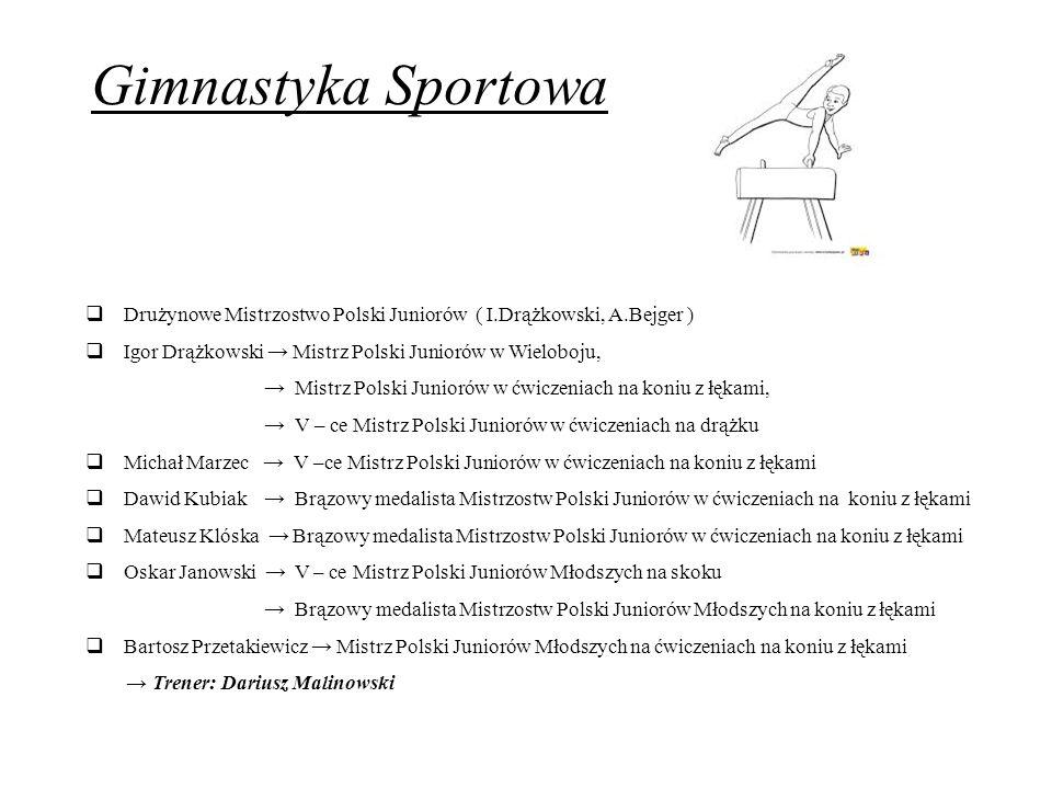 Gimnastyka Sportowa Drużynowe Mistrzostwo Polski Juniorów ( I.Drążkowski, A.Bejger ) Igor Drążkowski → Mistrz Polski Juniorów w Wieloboju,