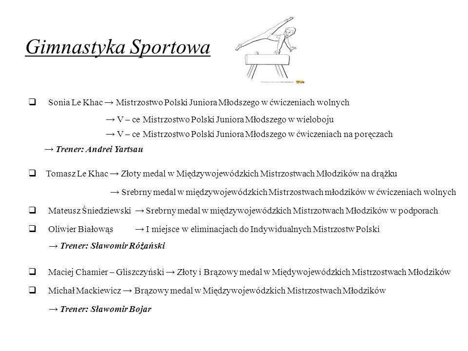 Gimnastyka Sportowa Sonia Le Khac → Mistrzostwo Polski Juniora Młodszego w ćwiczeniach wolnych.