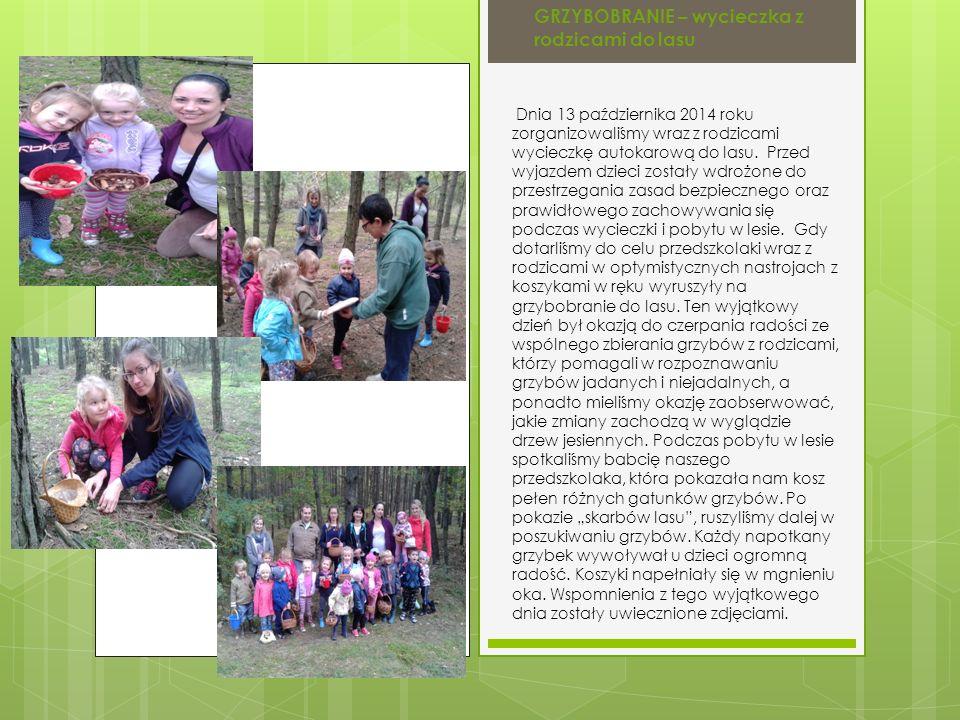 GRZYBOBRANIE – wycieczka z rodzicami do lasu
