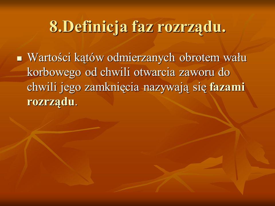 8.Definicja faz rozrządu.