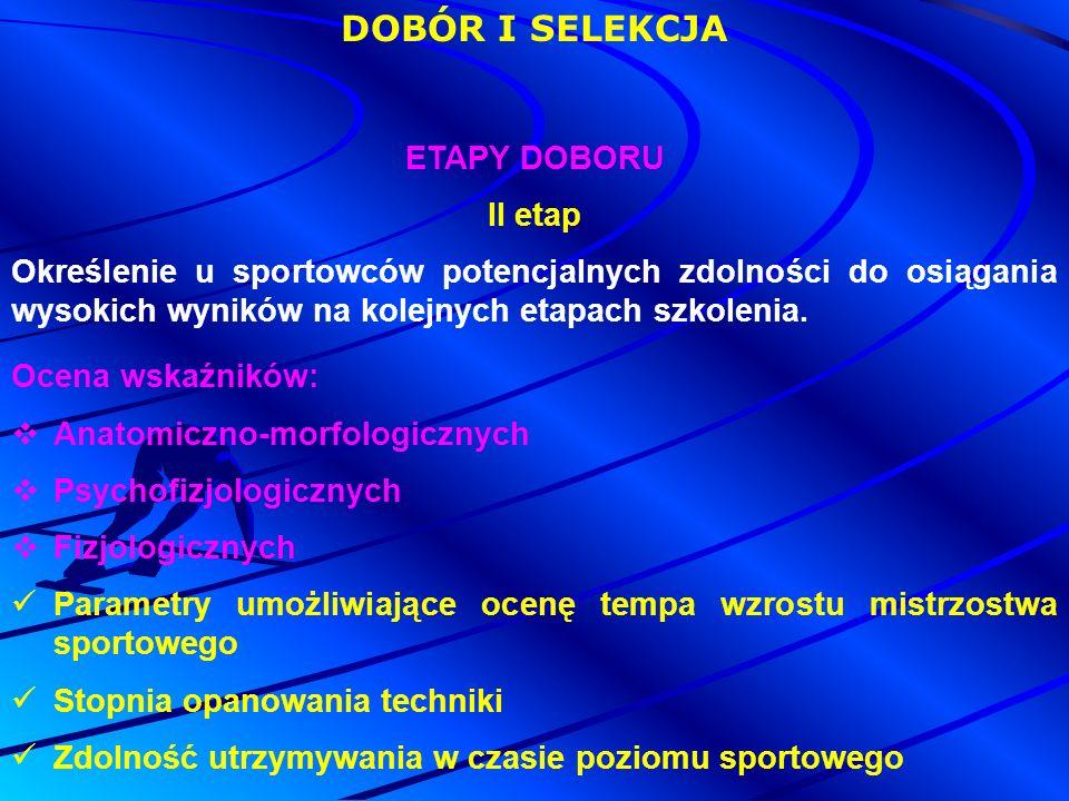 DOBÓR I SELEKCJA ETAPY DOBORU II etap