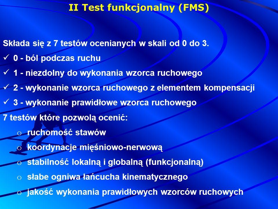 II Test funkcjonalny (FMS)