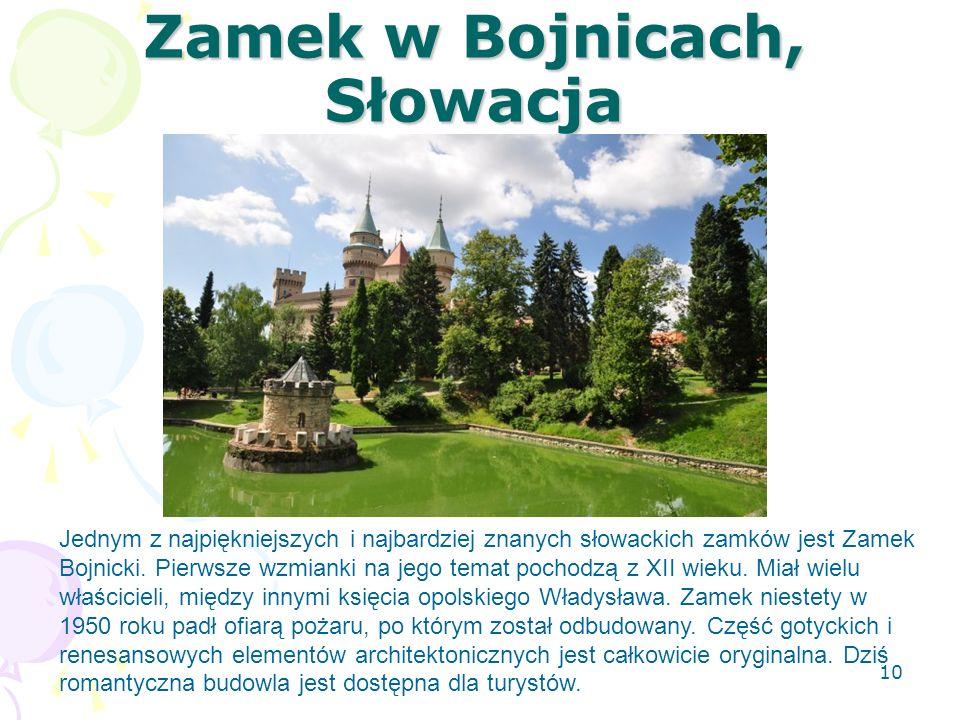 Zamek w Bojnicach, Słowacja