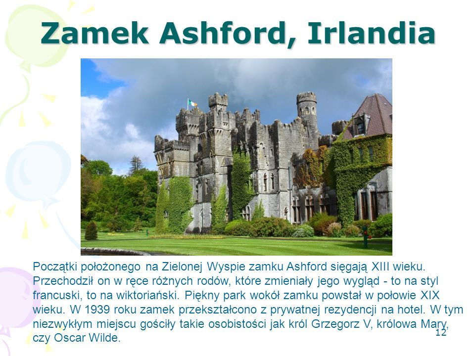 Zamek Ashford, Irlandia