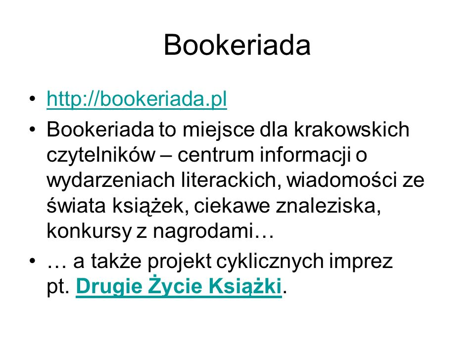 Bookeriada http://bookeriada.pl