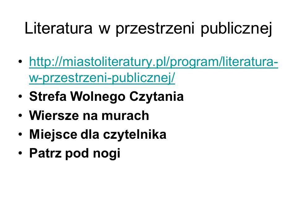 Literatura w przestrzeni publicznej