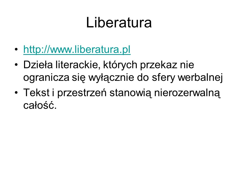 Liberatura http://www.liberatura.pl