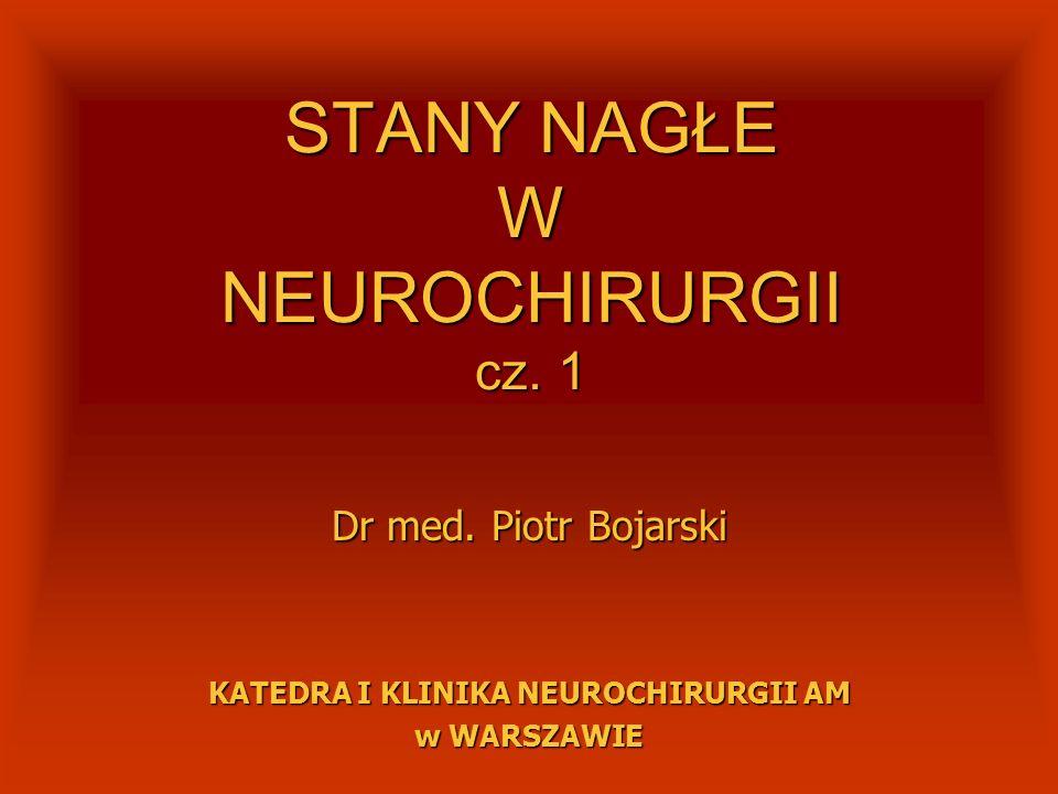 STANY NAGŁE W NEUROCHIRURGII cz. 1