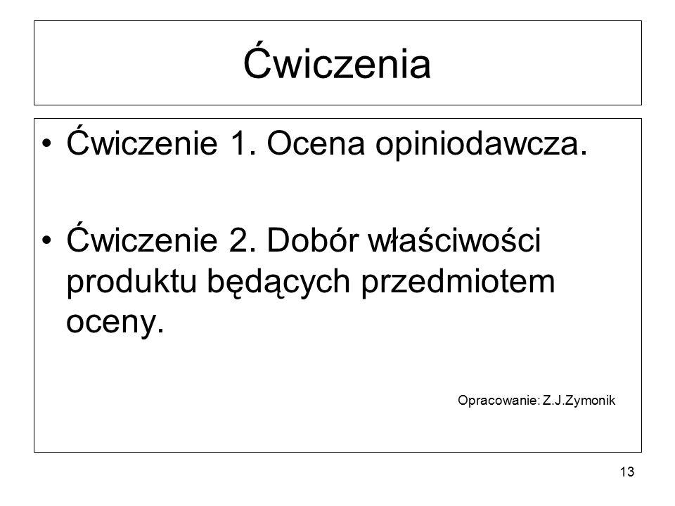Ćwiczenia Ćwiczenie 1. Ocena opiniodawcza.