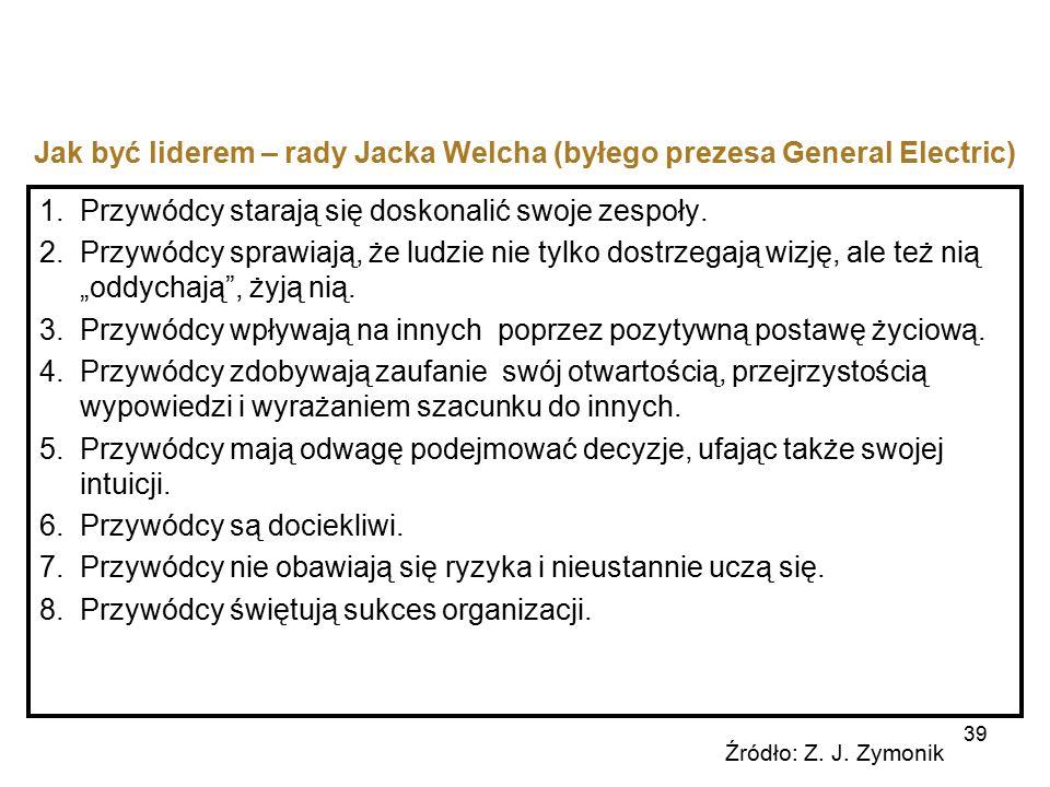 Jak być liderem – rady Jacka Welcha (byłego prezesa General Electric)