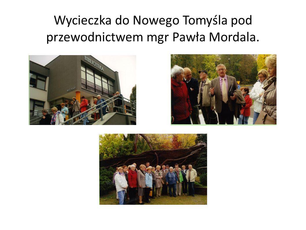 Wycieczka do Nowego Tomyśla pod przewodnictwem mgr Pawła Mordala.