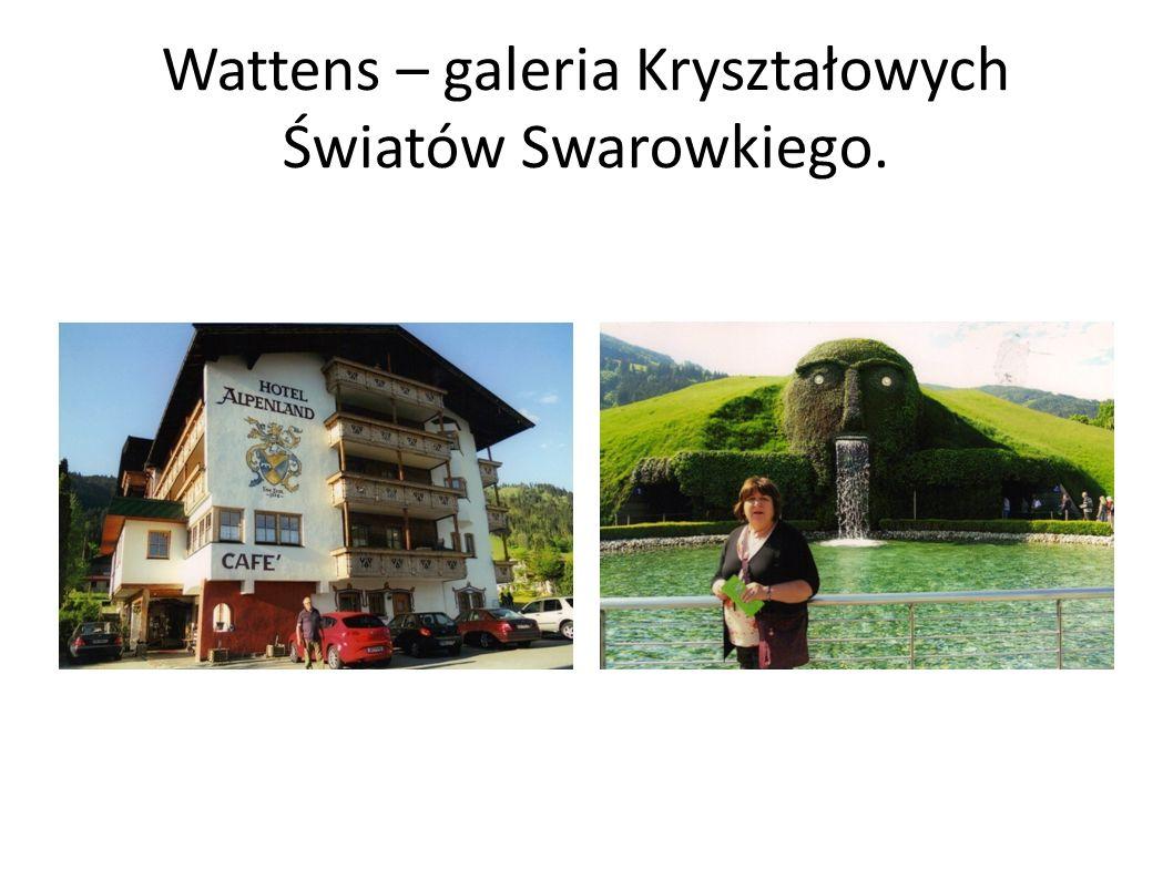 Wattens – galeria Kryształowych Światów Swarowkiego.