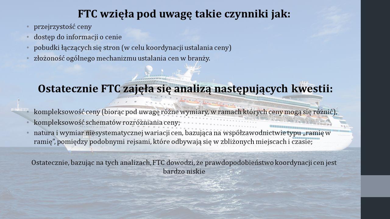 FTC wzięła pod uwagę takie czynniki jak: