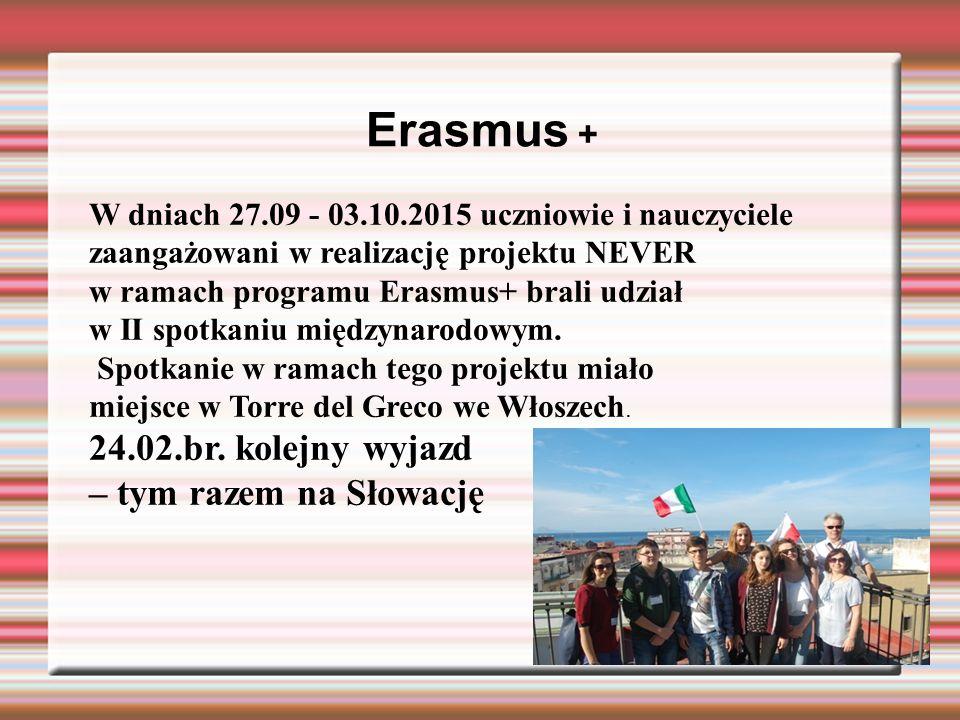 Erasmus + 24.02.br. kolejny wyjazd – tym razem na Słowację