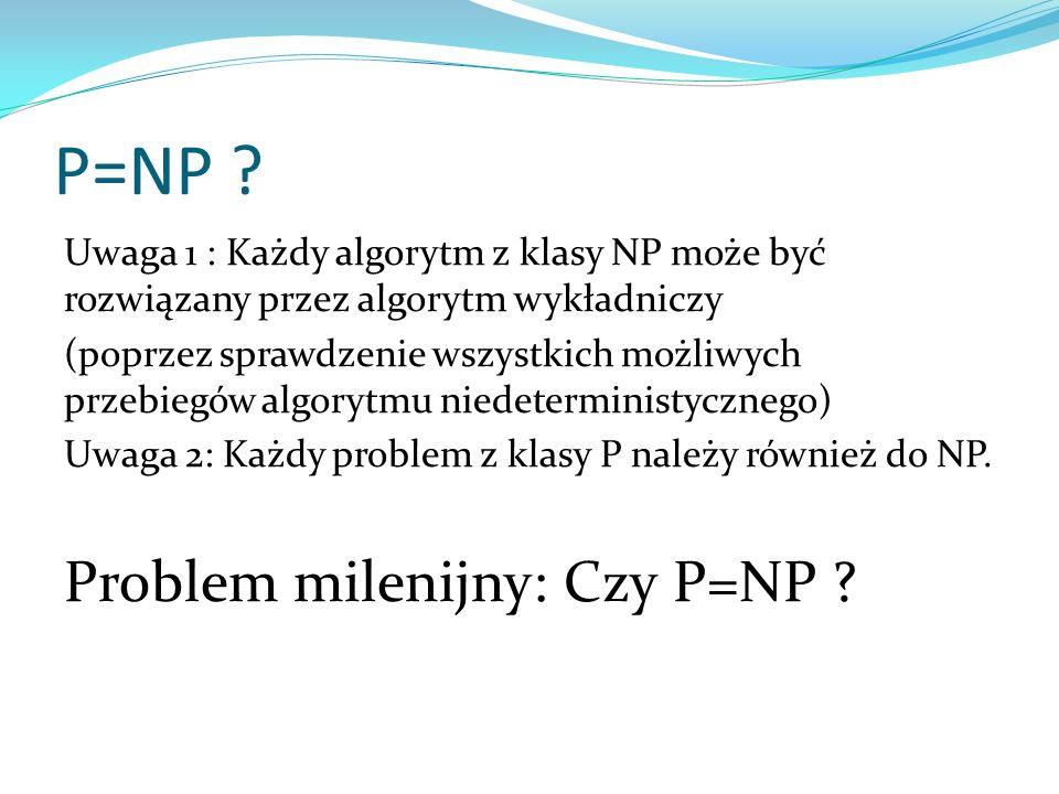 P=NP Problem milenijny: Czy P=NP