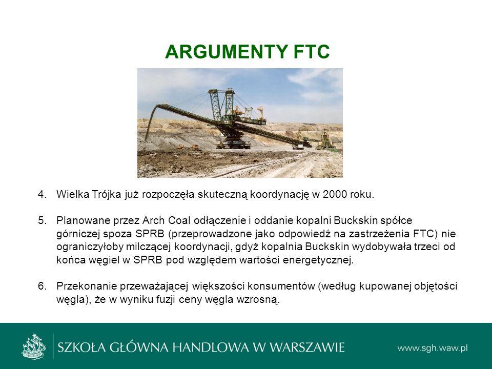ARGUMENTY FTC Wielka Trójka już rozpoczęła skuteczną koordynację w 2000 roku.