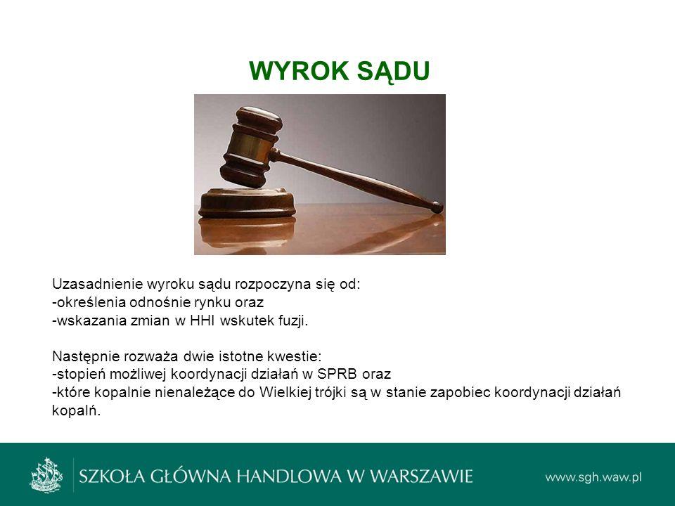 WYROK SĄDU Uzasadnienie wyroku sądu rozpoczyna się od: