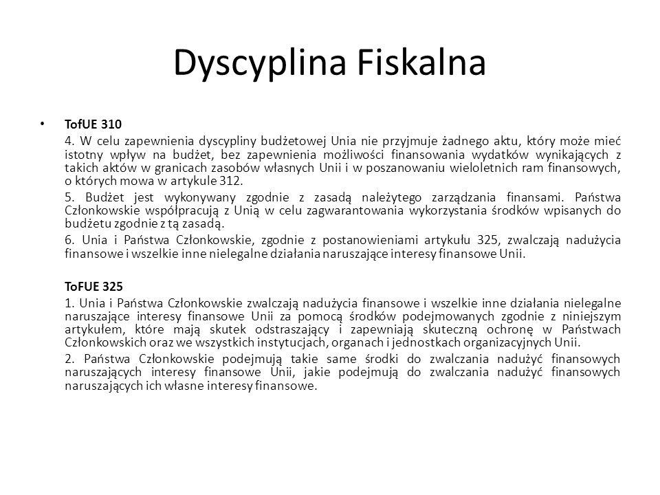 Dyscyplina Fiskalna TofUE 310