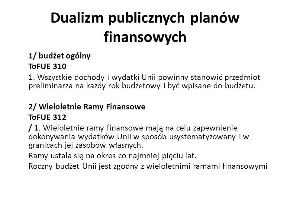 Dualizm publicznych planów finansowych