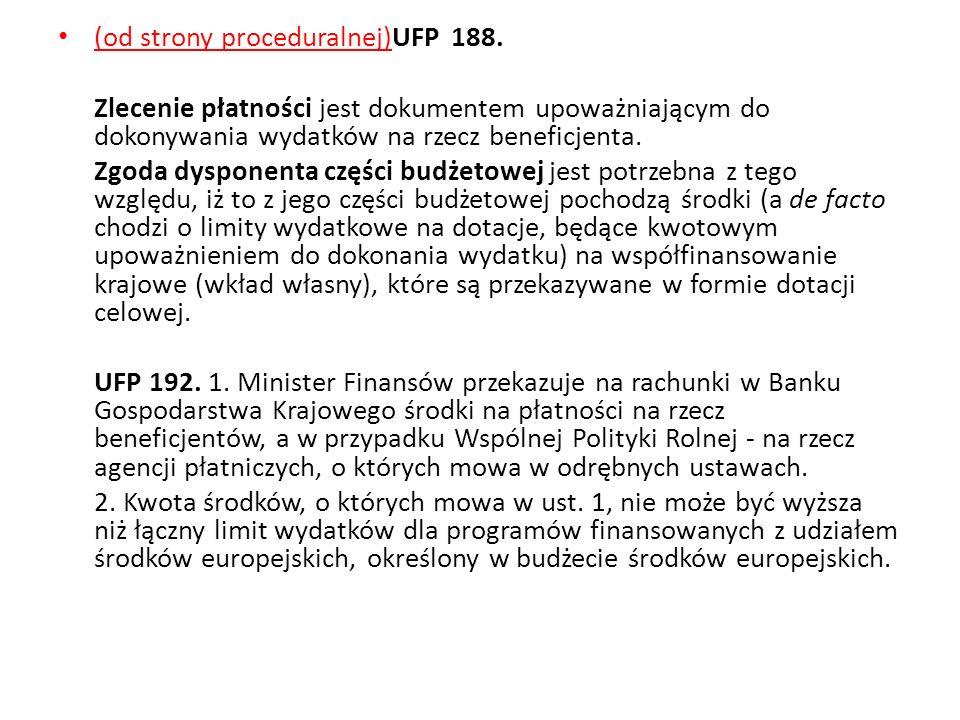 (od strony proceduralnej)UFP 188.