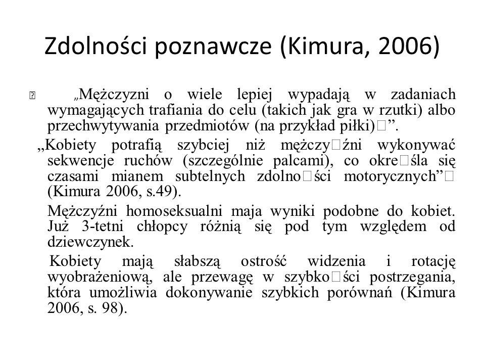 Zdolności poznawcze (Kimura, 2006)