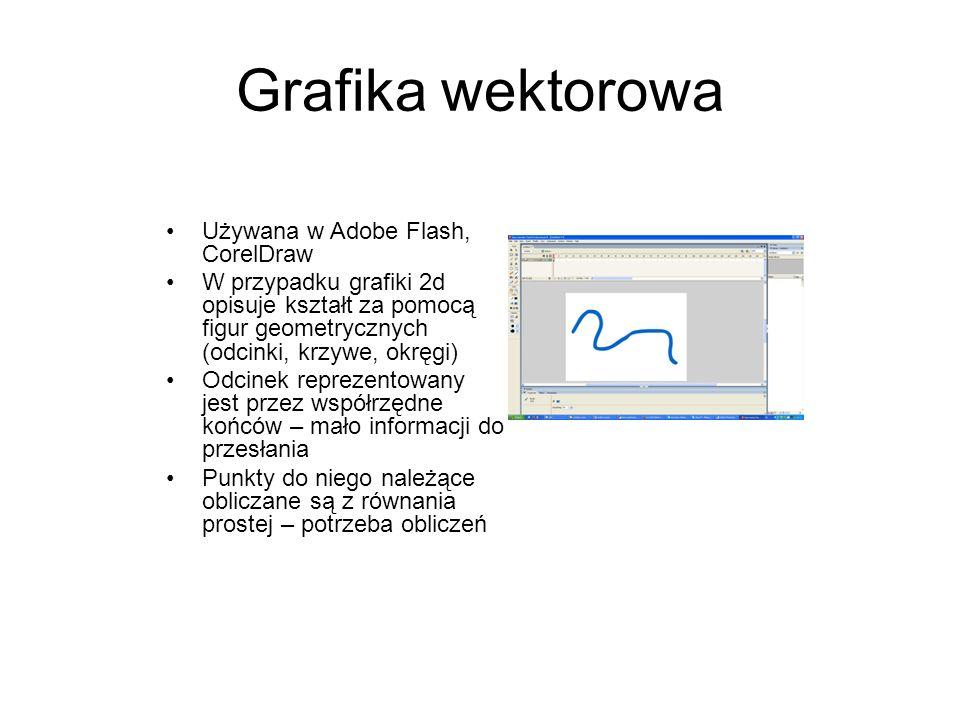 Grafika wektorowa Używana w Adobe Flash, CorelDraw