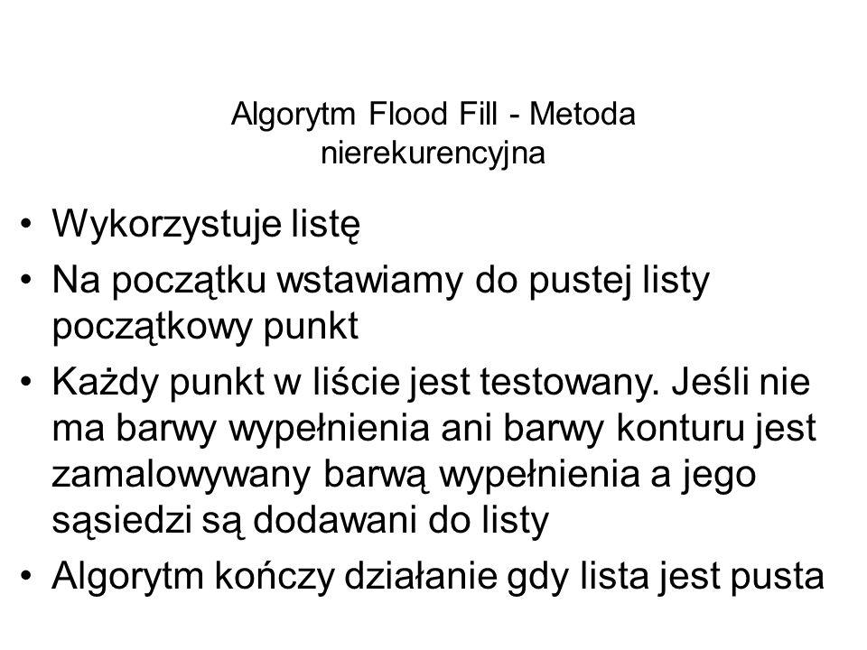 Algorytm Flood Fill - Metoda nierekurencyjna