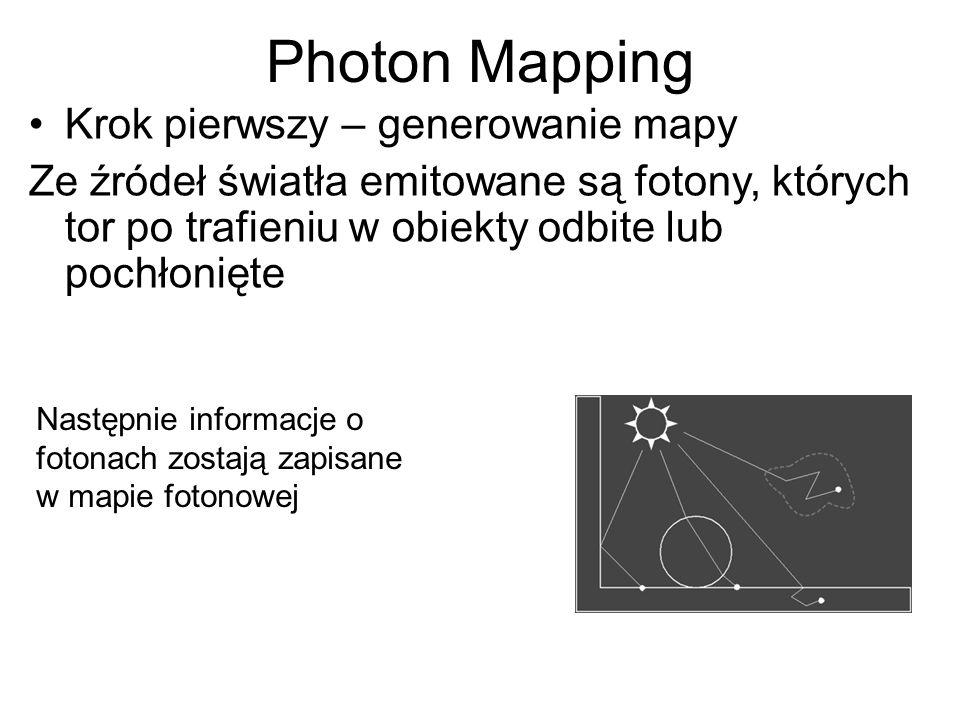 Photon Mapping Krok pierwszy – generowanie mapy