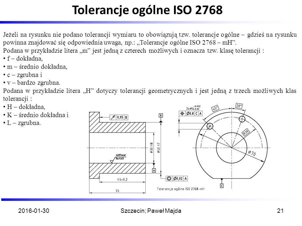 Przykład wymiarowania z uwzględnieniem zaleceń ISO 14405-1