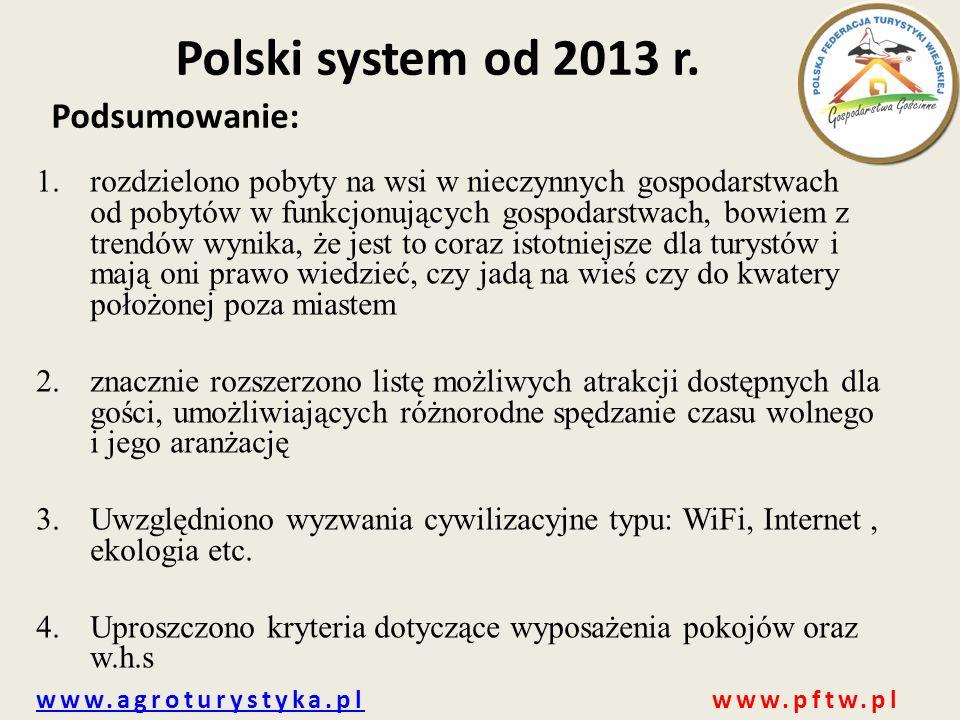 Polski system od 2013 r. Podsumowanie: