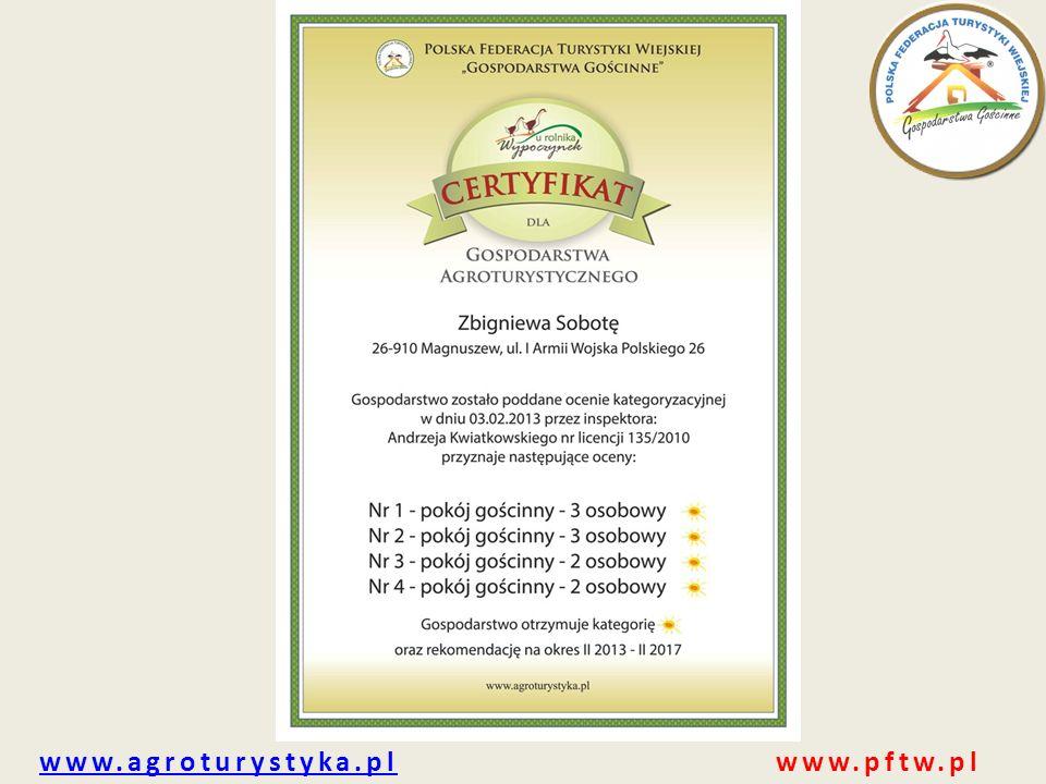 www.agroturystyka.pl www.pftw.pl